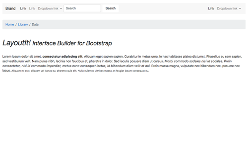 Article Bootstrap template